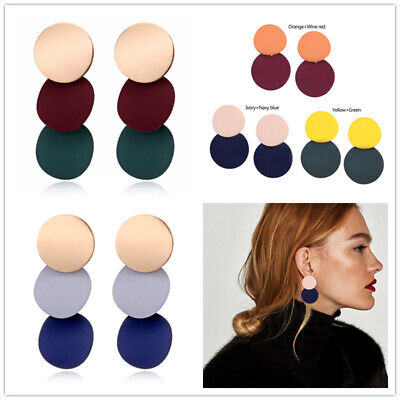2019 Fashion Large Circle Geometry Metal Earring Ear Stud Earrings Women Jewelry