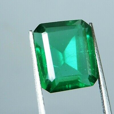 6.5 Ct.Natural Beautiful Emerald Cut Colombian Green Emerald Loose Gemstone