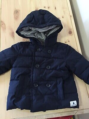 COUNTRY ROAD Padded Navy Baby Jacket Size 0 6-12 Months