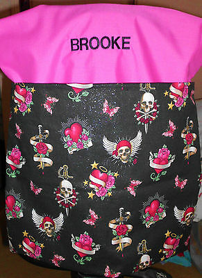 GIRLS CHAIR BAG Ideal for SCHOOL or HOME - HAND MADE IN AUSTRALIA BRAND NEW