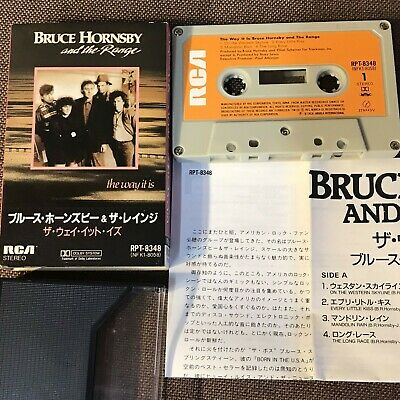BRUCE HORNSBY & THE RANGE The Way It Is JAPAN CASSETTE RPT-8348 SLIP CASE+INSERT