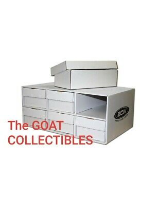 1x BCW Card House with 6x 1600 Count Shoe Corrugated Cardboard Storage Boxes