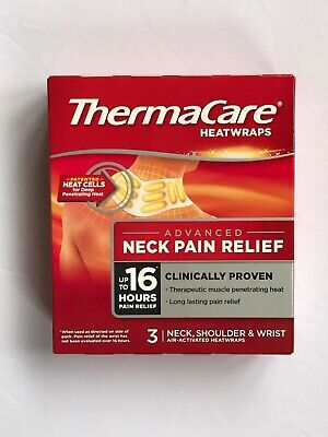ThermaCare Heatwraps by Pfizer 3 Pack for Neck Shoulder & Wrist pain relief  NEW