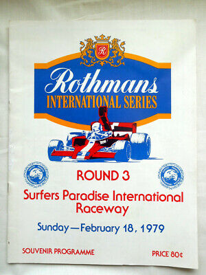 Motor Race Program - 1979 Surfers Paradise - Rothmans International Series