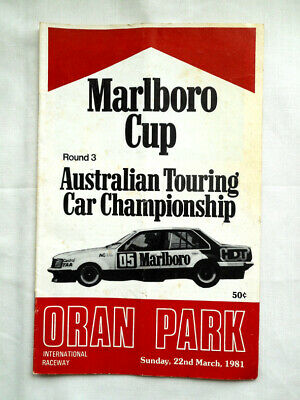 Motor Race Program - 1981 Oran Park - ATCC