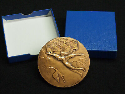 MEDAILLE ART BRONZE J.P.LEGASTELOIS AVIATION - CAPITAINE GEORGES GUYNEMER - 68mm
