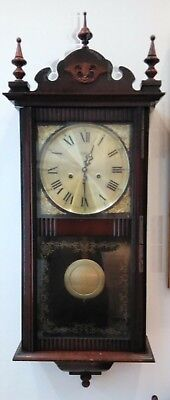 Victorian style mechanical Wall Clock made by Highlands