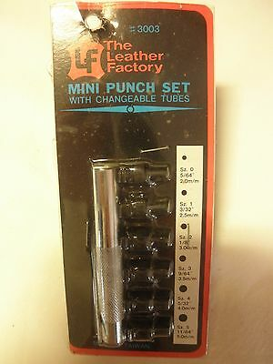 Leather Factory Tool Punch Set Mini 6pc #3003
