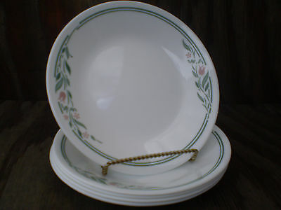 Corelle Dishes Rosemarie White Small Bread & Butter Or Dessert Plates 5 Ct