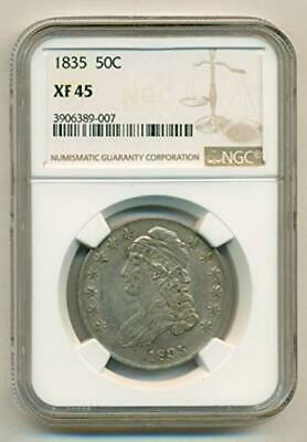 1835 Capped Bust Half Dollar (Lettered Edge) XF45 NGC