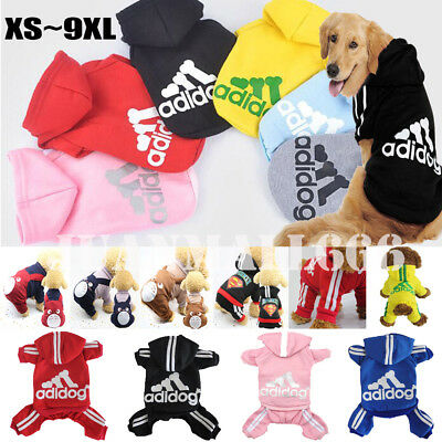 Winter Casual Adidog Pets Dog Clothes Warm Hoodie Jacket Coat Clothing For Dogs
