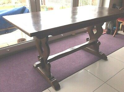 Antique Early 20th century Arts & Crafts style Oak Pegged Table - NEW LOW PRICE