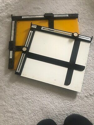 "Photographic Darkroom Easel X 2 10"" X 12"" And 11"" X 14"""