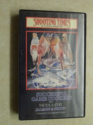 'Successful Game Cookery with Nicola Cox: Salmon & Trout' VHS Video Cassette