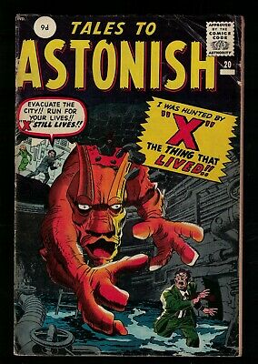 Marvel Comics VG  #20 TALES TO ASTONISH  THE X  1961