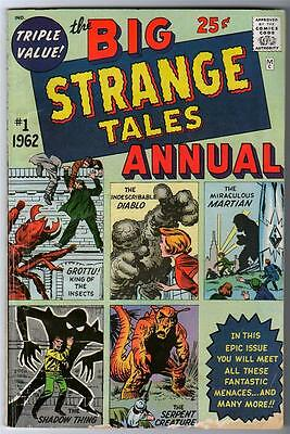 Marvel Comics VG+ 4.5  BIG STRANGE TALES #1 Annual Dr Strange rare comic 1962