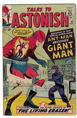 Marvel TALES TO ASTONISH 49 Pym 1st GIANT MAN AVENGERS MID GRADE FN CENT