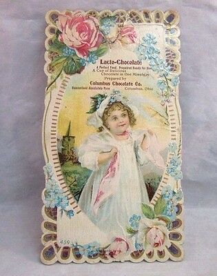 Victorian trade card. Lacto-Chocolate Co. Columbus, OH