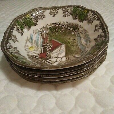 Johnson Brothers The Friendly Village Covered Bridge Soup Cereal Bowl Lot Of 5