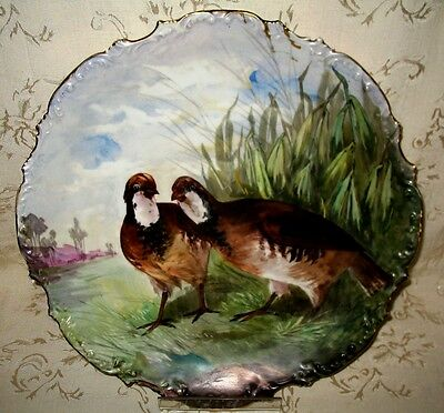 W. G. & Co French Limoge Artist Signed A. Canan Hand Painted Late 1800's Charger