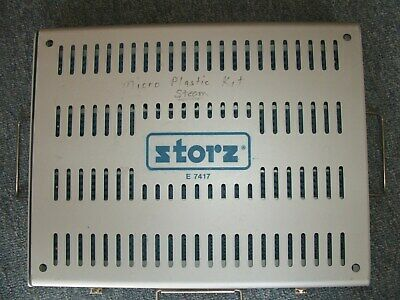 Storz E7417 Sterilization Tray Case E-7417  With Insert Tray