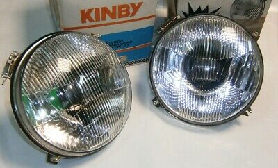 2 x Optica Faro SEAT 850 124 Coupé H4 Kinby YFE1805 Front light Pair Halogen