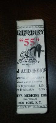 Antique Humphreys Homeopathic Medicine NOS #55 Acid Indigestion