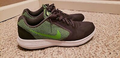 finest selection 6bf6f 70ece Nike Revolution 3 Men s Athletic Running Shoes Gray Green Size 9.5 (819300- 005)