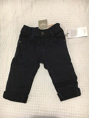 Next Baby Boys Black Denim Jeans Trousers 3-6 New With Tags