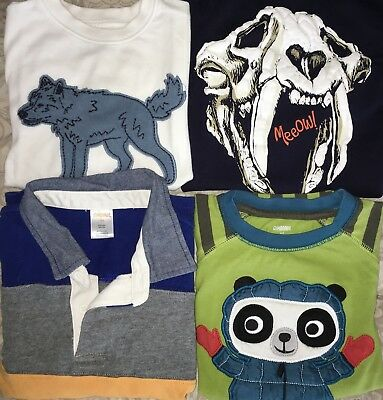 GYMBOREE Long Sleeve LOT Wolf Saber tooth Quilted Panda Rugby Stripe Polo 5T