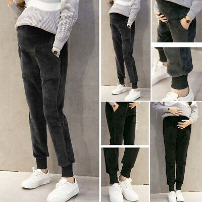 Casual Pants Trousers Leggings Pockets Clothes Skinny Maternity Pregnant Winter