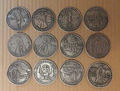 Star Wars Celebration IV Complete Collector Track Pewter Medallion Set Of 12