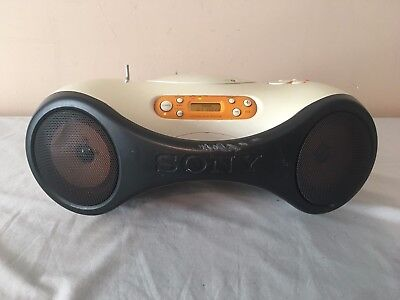 Sony Personal Audio System CD-R/RW Playback Model ZS-X1 Boombox Radio CD Player
