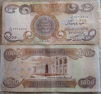 1x 1,000 Iraqi Dinar Note! Circulated! LOOK! Every 10 bought gets a Silver Bar +