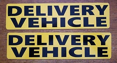 DELIVERY VEHICLE MAGNETIC SIGNS BOLD BLACK ON YELLOW MAIL COURIER FOOD Free Ship