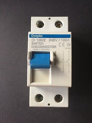 Doepke DI100/2 100A Double Pole Isolation Switch
