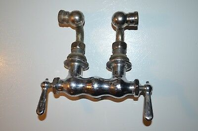 Old Vintage Faucet Handles For Parts Repair Hot Cold Plumbing Chrome Chi-Fau-Co