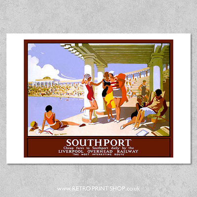 LOR Southport Poster - Railway Posters, Retro Vintage Travel Poster Prints