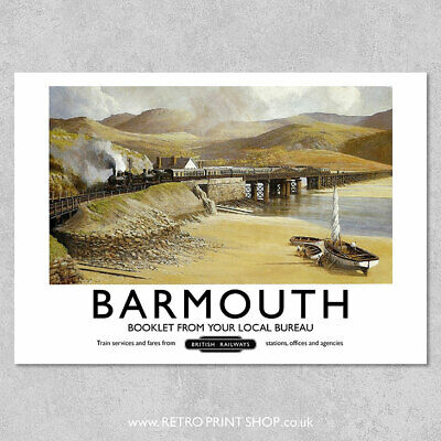 BR Barmouth Poster - Railway Posters, Retro Vintage Travel Poster Prints