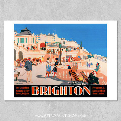 SR Brighton Poster - Railway Posters, Retro Vintage Travel Poster Prints