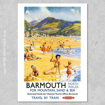 BR Barmouth Poster #2 - Railway Posters, Retro Vintage Travel Poster Prints