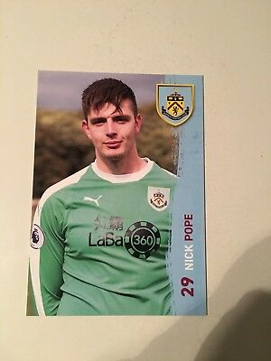 Spelerskaart Nick Pope Burnley FC 18-19 Topspieler