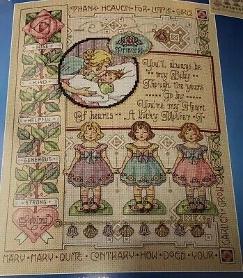 JANLYNN Sampler FOR MY DAUGHTER Counted Cross Stitch KIT 0230507 Sandy Orton MIP