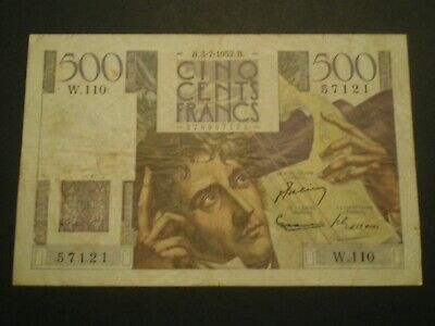 500 Francs Chateaubriand 03/07/1952  W 110