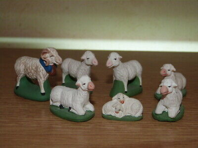 Santon Escoffier collection des 7cm lot moutons + bélier