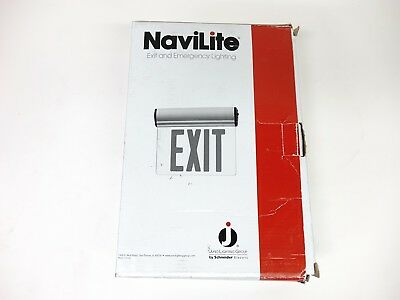 Juno Lighting NXESBA1RWH Surface Mount Edge-Lit LED Exit Sign W/ Battery Backup