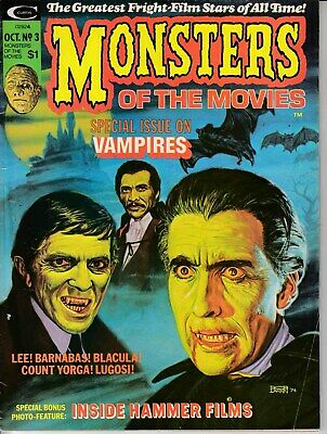 Monsters Of The Movies Magazine #3 (1974) Fine Minus (5.5) Marvel Vampires
