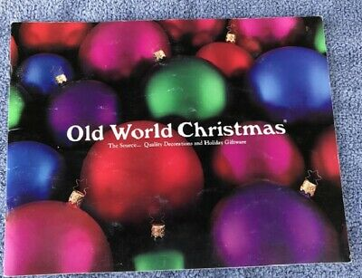 1991 MERCK FAMILY'S Old World Christmas Catalog Ornaments & Holiday Giftware
