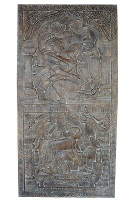 Erotic Art Kamasutra Wall Panel Hand Carved Indian Barn Door CLEARANCE SALE