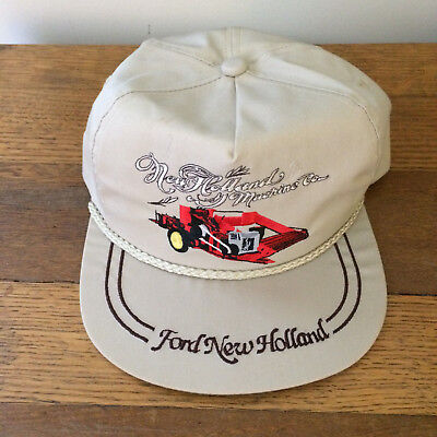 0811a5ca164a8 Vtg 1990 FORD NEW HOLLAND Heritage Series Barn Baseball Cap Hat Tractor K- BRAND